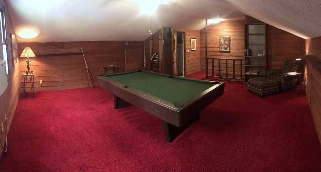 Pool room in lake house